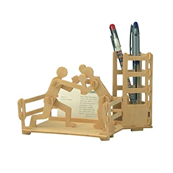 Magideal Moving Model Kit 3d Wooden Diy Boxing Pen Container