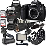 Canon EOS 5DS 50.6MP Full Frame CMOS Digital SLR DSLR Camera w/ EF 24-105mm f/4 L IS USM Lens + EF 75-300mm f/4-5.6 III Telephoto + 500mm f/8 Preset Lens + Holiday Accessory Bundle + More!