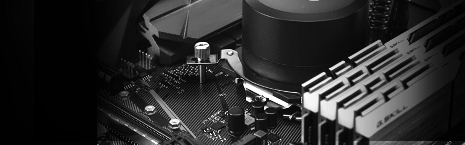 Cooler Master MasterLiquid Lite 240 Liquid CPU Cooler 240mm Radiator, 2 x MasterFan Air Balance 120 Fans, Dual-Chamber Pump MLW-D24M-A20PW-R1 by Cooler Master (Image #9)