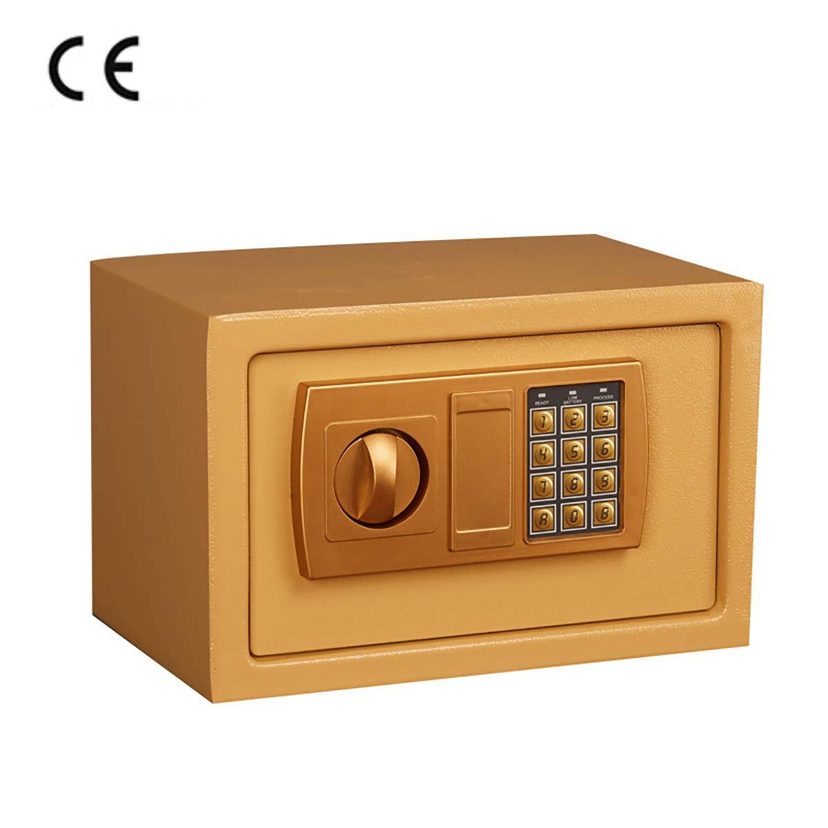 Petit Coffre-Fort pour Mot de Passe /électronique syst/ème dalarme MIAOBX Coffre-Fort /électronique dor/é-Coffres-forts