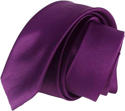 LUCIO LAMBERTI Corbata hombremujer slim Corbata violeta color ...