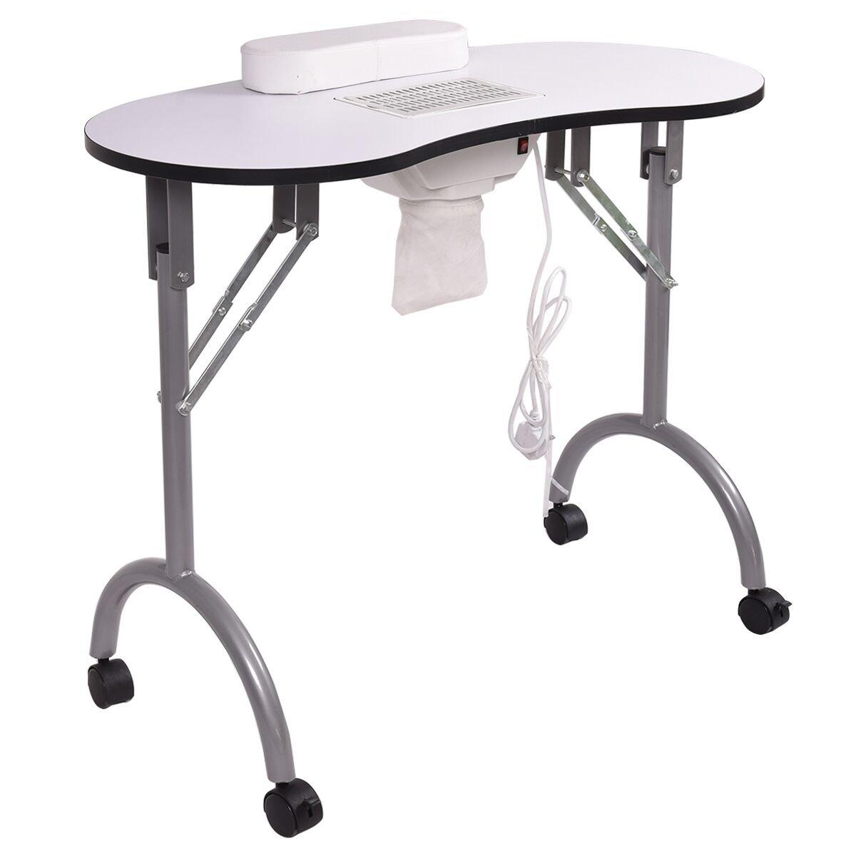 Amazon.com : Giantex Folding Portable Vented Manicure Table Nail ...