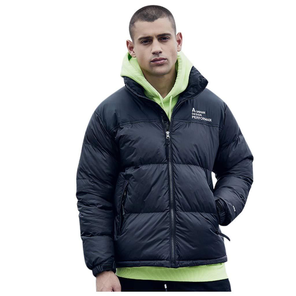 Men's Casual Hooed Hoodies Thick Wool Warm Winter Jacket Coats Winter Jacket for Boys with Warm Fleece Inner Jacket by VEZARON