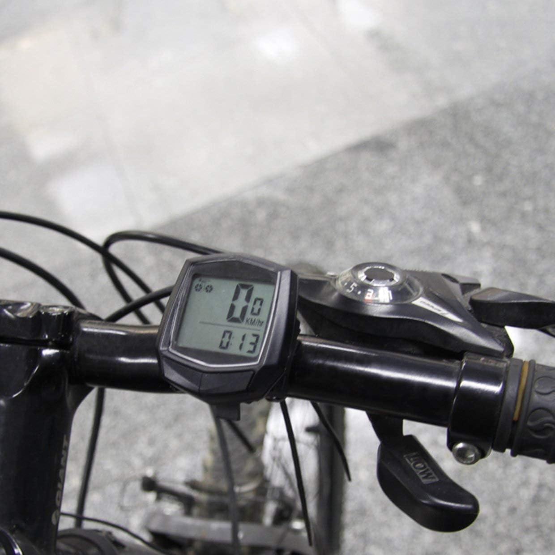 Qewmsg Cuentakilómetros Bicicleta con Cable cronómetro ...