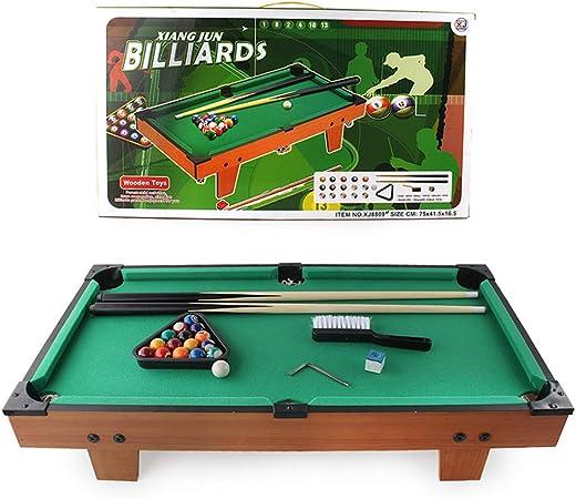 Hmcozy Billar Juego de Mesa, Mini portátil de 29 Pulgadas Mesa de Billar Snooker Billar Niños Set Cues Bolas para niños Indoor Partido Juegos Family Sports: Amazon.es: Hogar