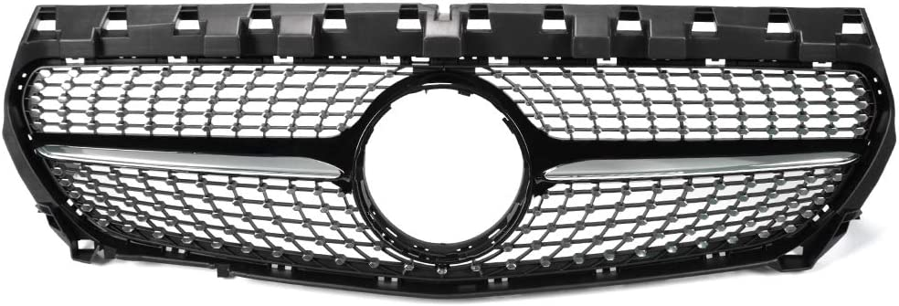 Diamond Front Upper Grill Grille For Mercedes Benz W117 R117 CLA45 AMG