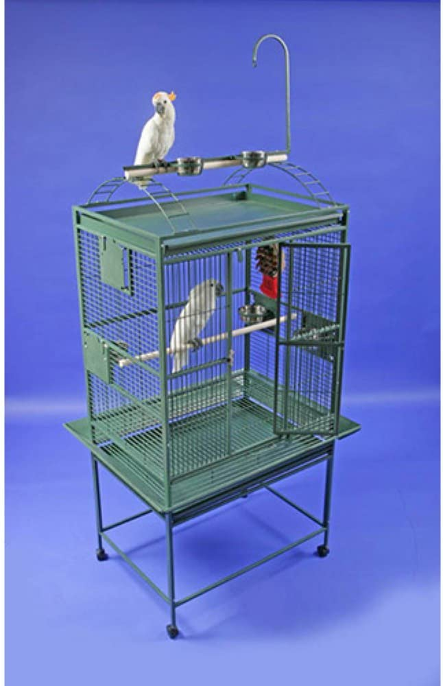 A&E Cage 8003223 Black Play Top Bird Cage with 5/8