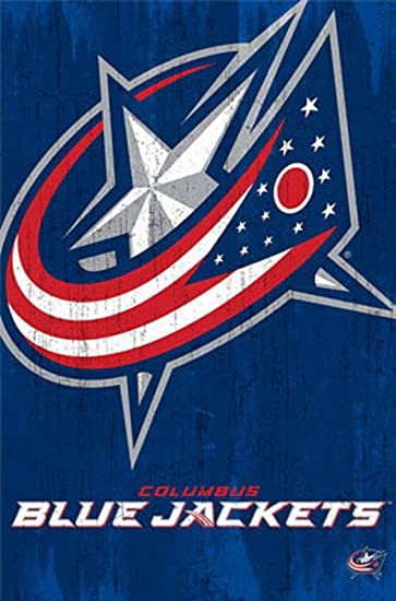 Amazon.com: Columbus Blue Jackets Logo Poster 22 x 32in: Posters