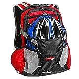 Arltb 20L Bike Backpack Helmet Storage (2 Colors) Cycling Hiking Travel Daypack Waterproof Motorcycle Backpack Lightweight Motorcycle Helmet Bag Cycling Running Hiking Camping (Blue)