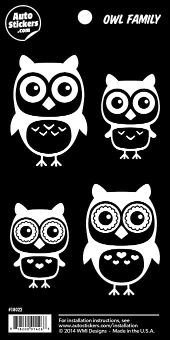 Amazoncom Owl Family Vinyl Car Stickers  Decals Automotive - Owl family custom vinyl decals for car