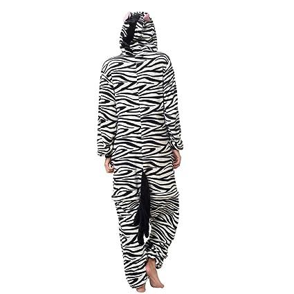 Katara 1744 - Kigurumi Pijamas Disfraz de Animal - Traje de Noche con Capucha - Adultos Unisexo - Cebra, L: Amazon.es: Juguetes y juegos