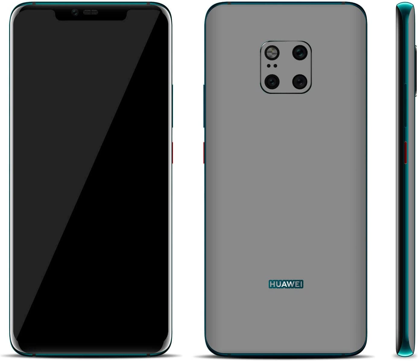 Textured Skin Stickers for Huawei Mate 20 Pro Aged Oak