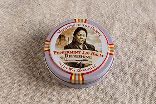 3 Tins of Navajo Medicine Of The People Peppermint Lip Balm 0.75 oz each - Christmas Stocking Stuffer