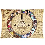 HipsterOne Unique Gravity Falls Best Pillowcase Custom Zip Throw Pillow Case Cover (Standard 20x30 inch) Sam-19-32