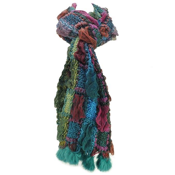 Bufanda Tejida del Bloque del Color de Las Mujeres de Las Bufandas ...
