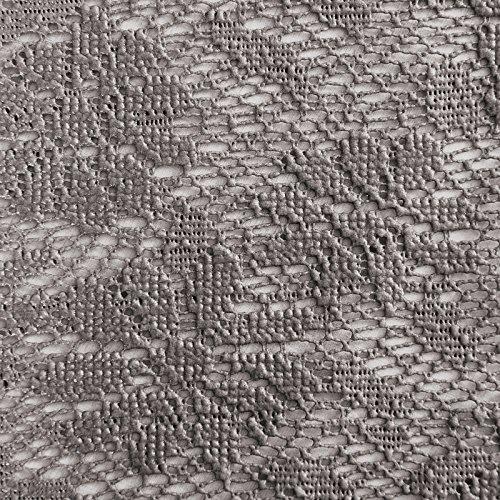 casa pura® Tischdecke Arnica   edles Dunkelgrau mit verspieltem Blumenmuster   Weichschaum für Garten und Balkon   rund 140 cm