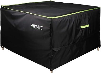 anti-UV resistente Oxford impermeabile KDR copertura circolare per patio resistente agli strappi copritavolo rotondo per mobili da giardino /Ø128 x 71 cm