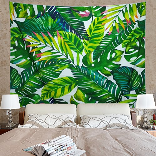 Amonercvita Leaf Tapestry Wall Hanging Palm Leaf Tapestry Banana Leaf Tapestry Wall Tapestry for Living Room Bedroom Dorm Decor - Leaves Wall Tapestry