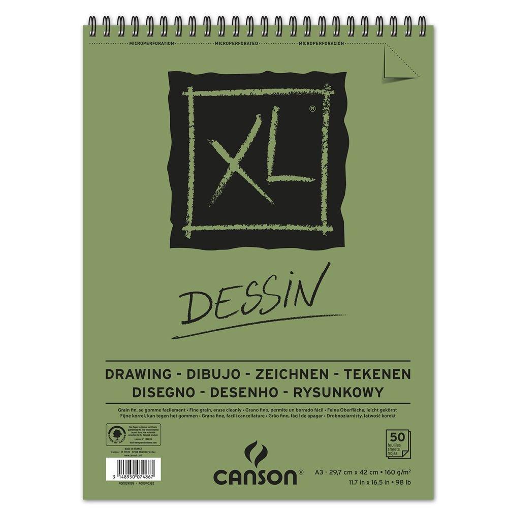 'Canson XL Dessin–Bloc de dibujo, fácil gekörnt 160g/m2, 50hojas por bloque