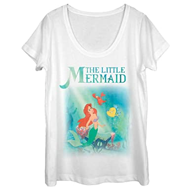 0a6abfde3998af Amazon.com: The Little Mermaid Women's Ariel and Friends Scoop Neck ...