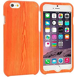 Accessory Planet(TM) Wood Grain Hard Snap-On Design Rubberized Case Cover Accessory for Apple iPhone 6 (4.7)