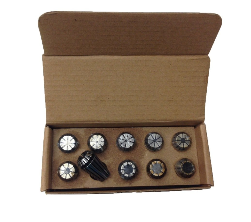 HHIP 3900-5165 ER16 10 Piece Spring Collet, Set, 1/32'' - 3/8'' by HHIP