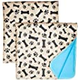 Washable Pee Pads for Dogs Whelping Reusable (2-Pack) Quilted Large 35 x 31 Extra Absorbent Layered Waterproof Mat Puppy Adul