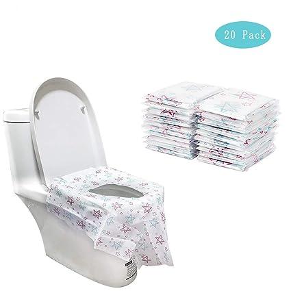 Super Ymwave 20 Piece Disposable Potty Seat Covers Toilet Seat Spiritservingveterans Wood Chair Design Ideas Spiritservingveteransorg