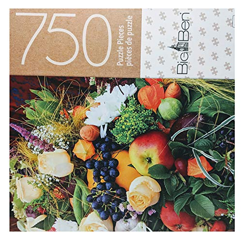 Big Ben 750 Piece Puzzle Fruits and Flowers