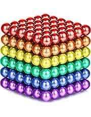 Magnetische Ballen - 5mm - leerzaam - 216 stuks - geschenkverpakking (Regenboog)