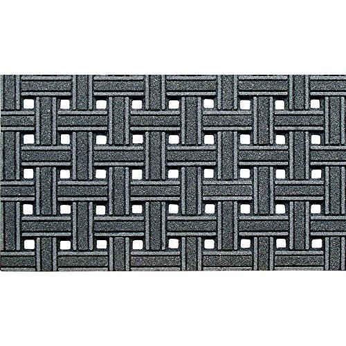 CleanScrape Deluxe Door Mat, 18-Inch by 30-Inch, Weave Gray