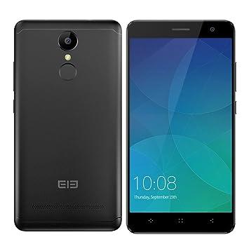 ELEPHONE A8-5.0 Smartphone 3G (Android 7.0 MTK6580 1.3GHz Quad Core Lector de Huellas Dactilares), Negro: Amazon.es: Electrónica