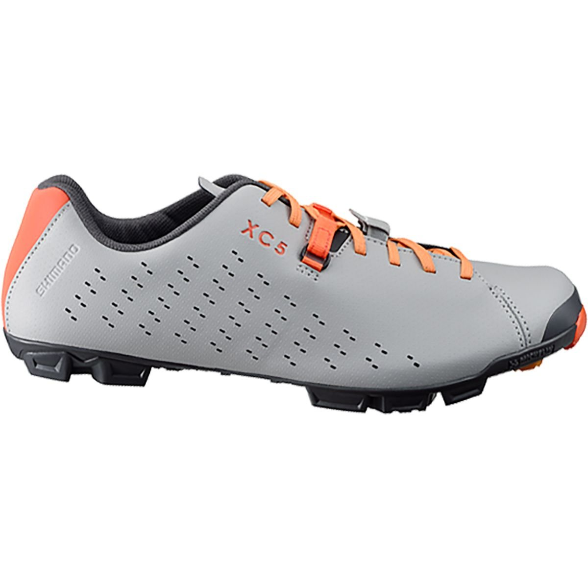 SHIMANO SH-XC5 Mountain Bike Shoe - Men's Grey/Orange; 38 by SHIMANO