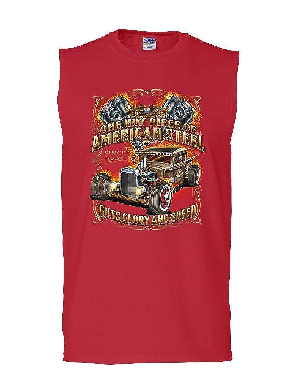 One Hot Piece of American Steel Muscle Shirt Hot Rod Guts Glory Speed Sleeveless