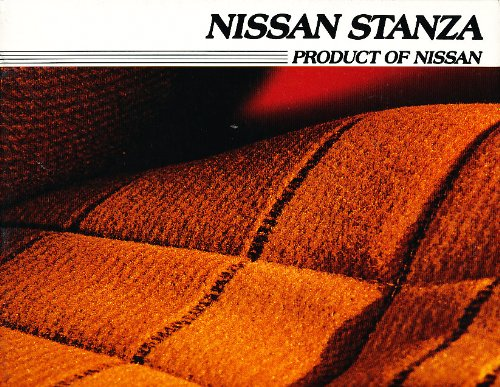 1985 Nissan Stanza Version2 Original Sales Brochure Catalog