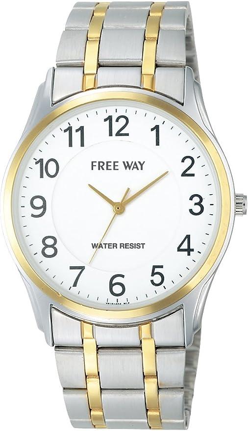 [シチズン キューアンドキュー]CITIZEN Q&Q 腕時計 FREE WAY(フリーウェイ) メタルコレクション アナログ表示 ホワイト AA93-4000 メンズ