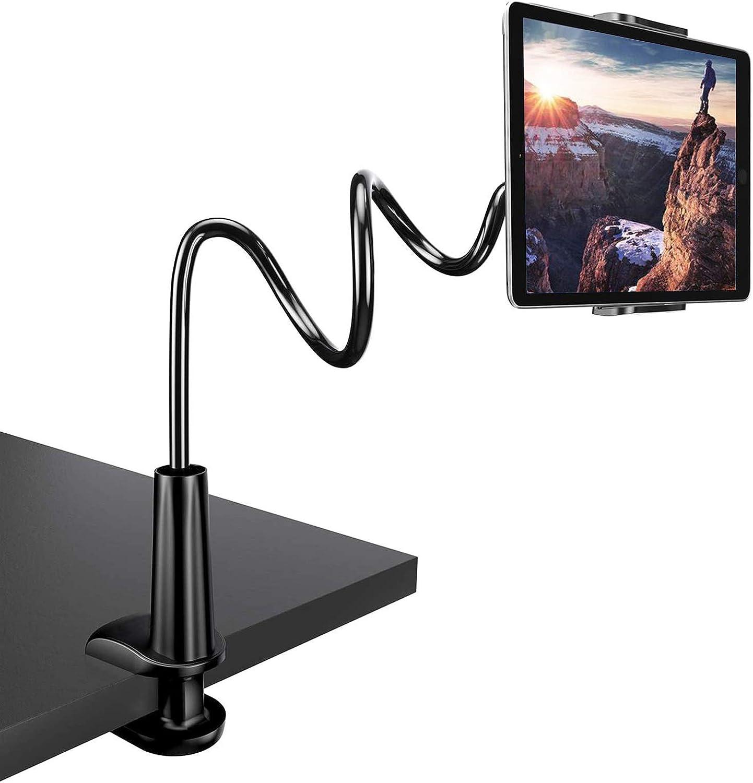 Zoeley Soporte Tablet, Soporte para Teléfono Móvil Multiángulo Flexible con Cuello de Cisne Brazo, Compatible para iPad Serie/iPhone/Huawei/Samsung/Nintendo Switch/Mediapad Kindle Fire HD