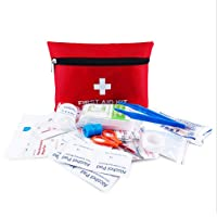 First Aid Kit Pouch, 13 Pieces Compact Waterproof Mini Emergency Bag Survival Kit for Home, Office, Vehicle, Travel…