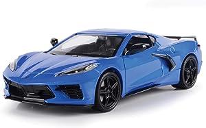 2020 Chevrolet Corvette C8 Stingray Blue Metallic Timeless Legends 1/24 Diecast Model Car by Motormax 79360