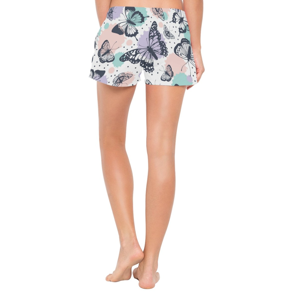 Cooper girl ALAZA Watercolor Butterfly Womens Shorts Beach Summer Drawstring Casual Shorts