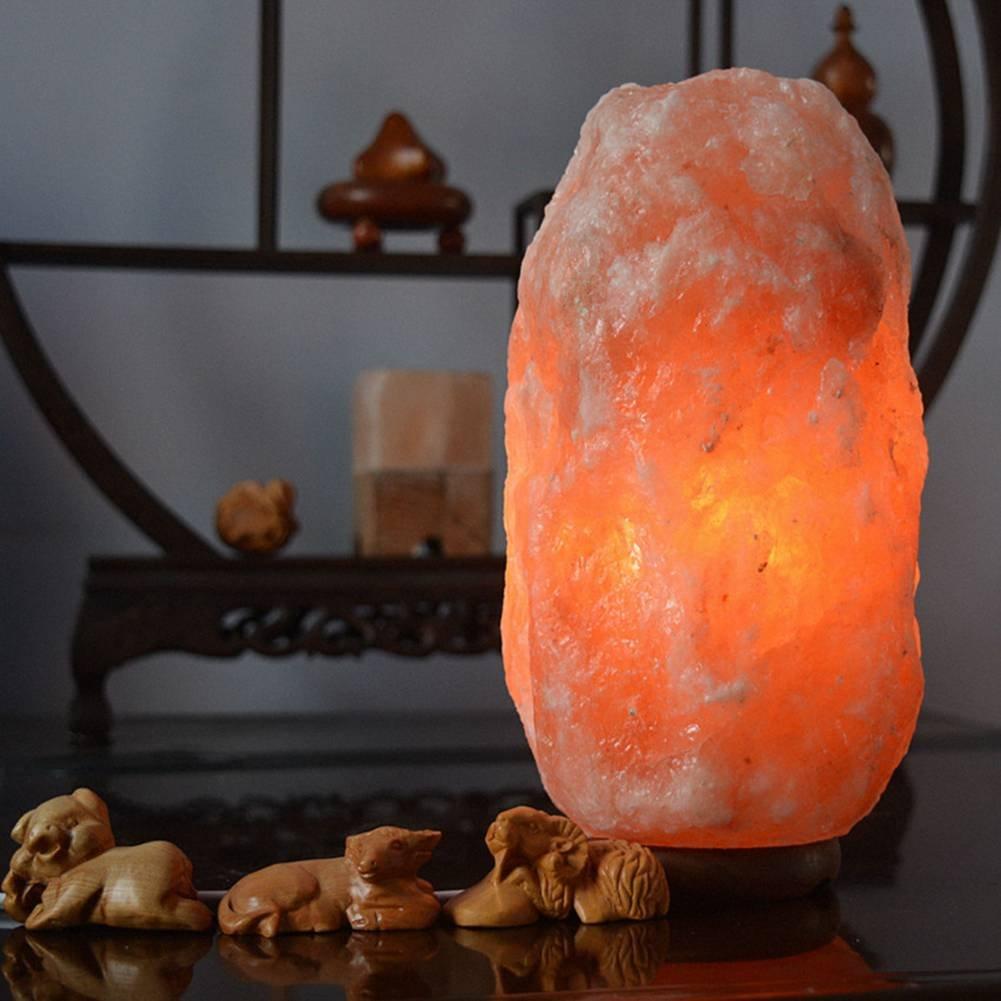 Salz Lampen, ZOQI Himalaya-Kristall Salz Freisetzung Reinigende Luft Hand Geschnitzte Natürliche Salz-Lampe