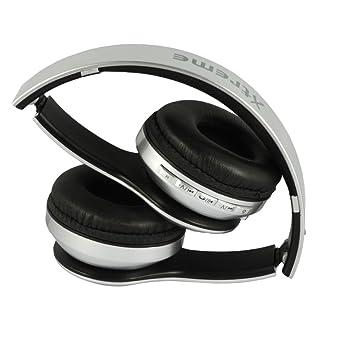 Xtreme Zurigo Auricular Bluetooth con Radio FM, Micrófono y Control, Entrada Micro SD, Plateado: Amazon.es: Electrónica