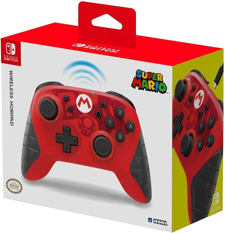 HORI - Horipad inalámbrico Mario (Nintendo Switch)