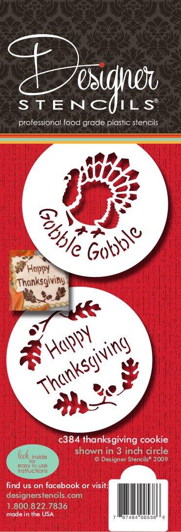 Designer Stencils C384 Thanksgiving Cookie Set, Beige/semi-transparent