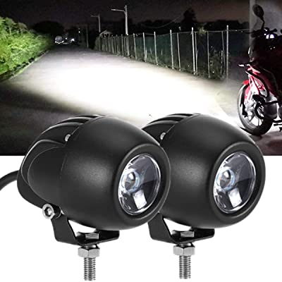 KAWELL 2Pcs 20W Round Motorcycle Dirt Bike Driving Lights 7D 6000K White Flood Spot Combo Pod Fog Lights Waterproof Offroad Led Work Light Bar for Jeep ATV Truck Wrangler Boat Tractor: Automotive