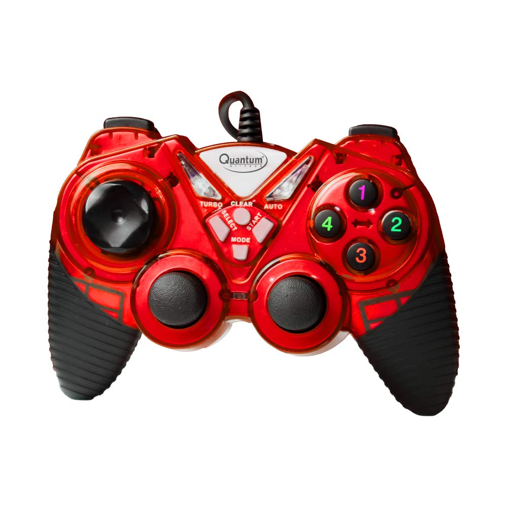 Amazon.in: Buy Quantum QHM7487 Wired USB Gamepad with Dual Vibration & Turbo Function (Red) Online at Low Prices in India | Quantum Reviews & Ratings