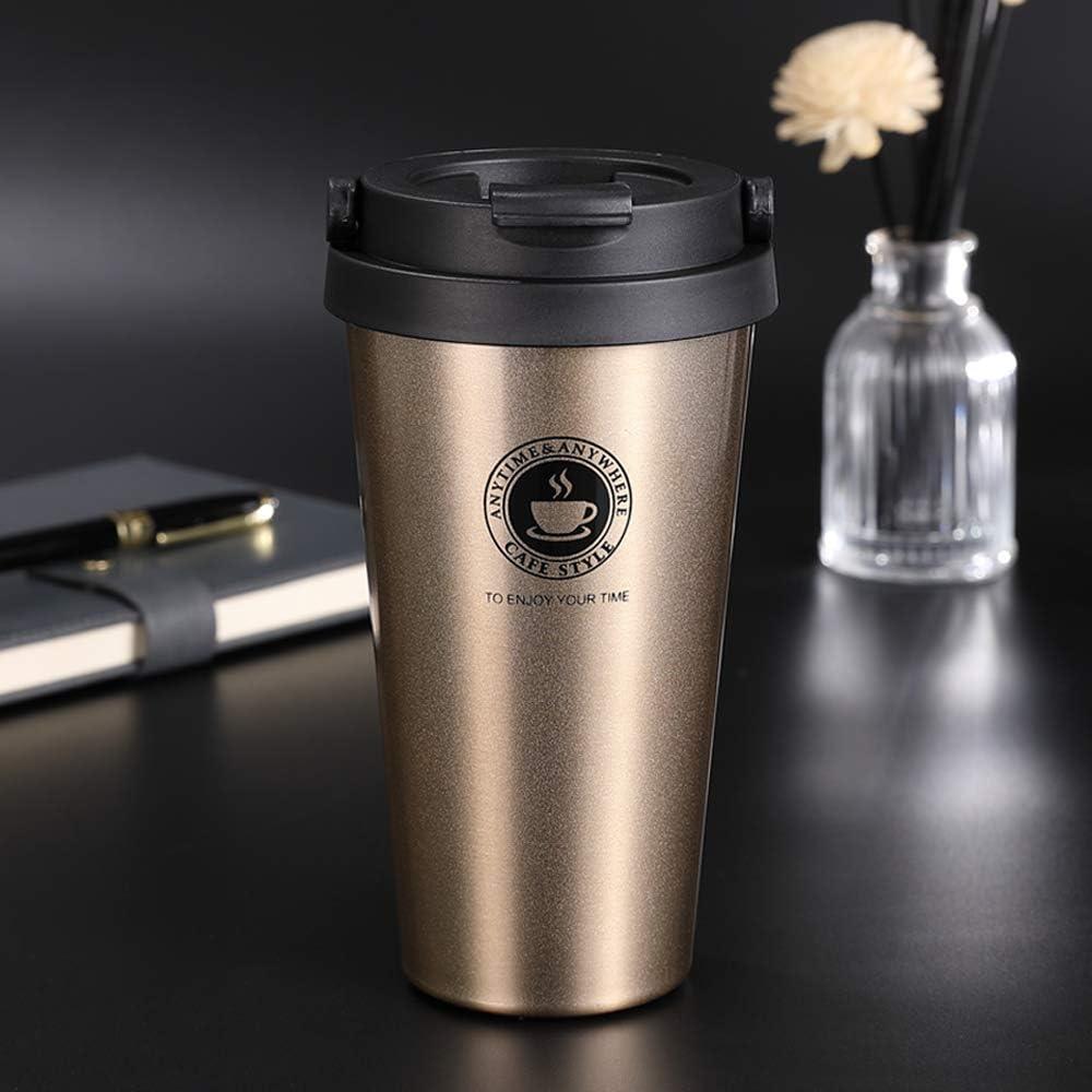 Chimaera Tazza Termica,Tazza per Caffe da Viaggio,Tazza Caffe Portatile 304 Acciaio Inossidabile 500ml Tazza Termica Adatta a Caffe,Te e Altre Bevande