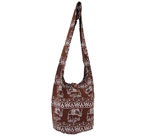 Amazon.com  Thai Hippie Hobo Sling Crossbody Shoulder Bag Elephant Gypsy Boho  Handbag for Women Medium (Chocolate)  Shoes 6ecc4853ec4a1