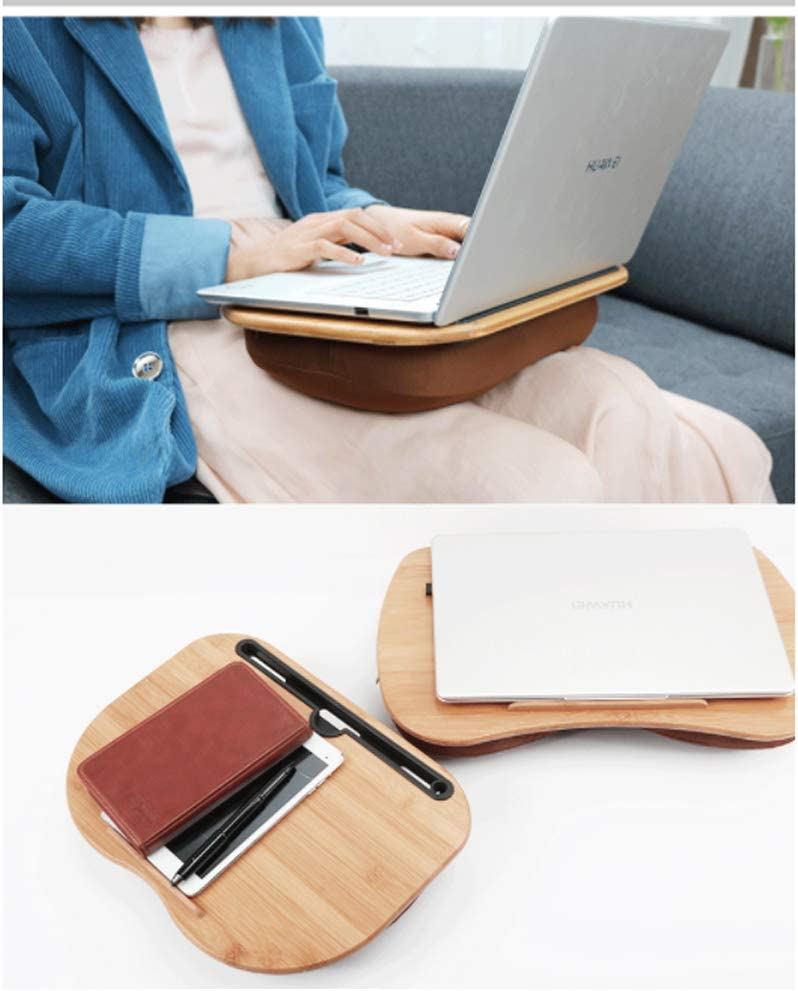 Can Used Pillow 550350MM Outdoor Card Slot Cup Holder Tablets Stands Laptop Lap Desks Multifunctional Lazy Table Bed Desk