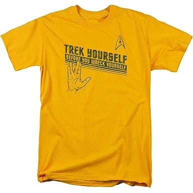 c81a58e96 Amazon.com: Star Trek Vulcan Salute T Shirt: Clothing